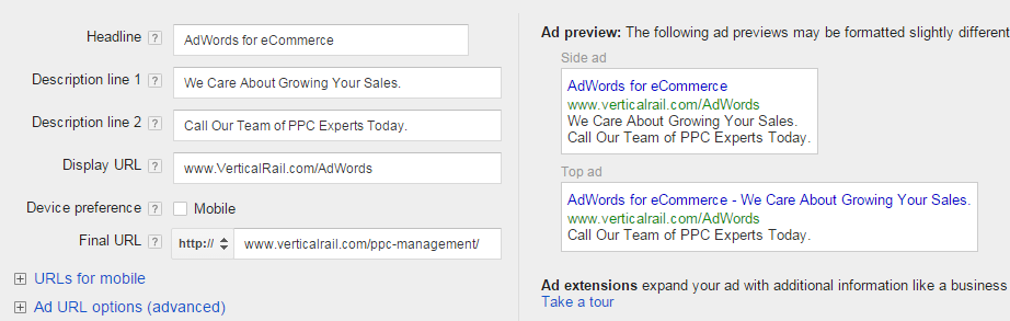 Write successful text ads