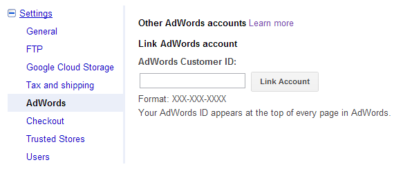 how to find the merchant centre google adwords