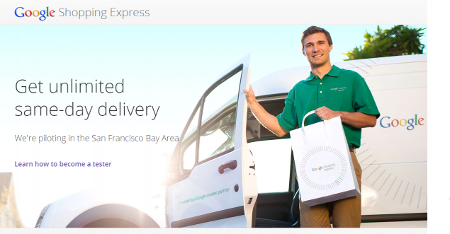 Google's announcement of Google Shopping Express