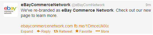 eBay Commerce Network Twitter Announcement