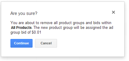Google Shopping Product Group Limits