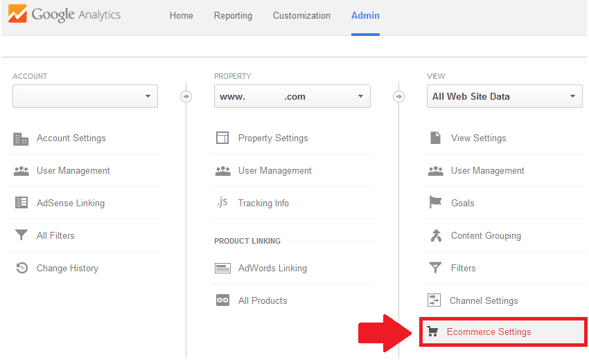 Google Analytics Ecommerce Tracking - Step 1
