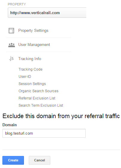 Create a referral exclusion in Google Analytics