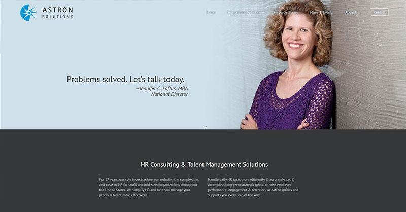 Astron Solutions web development