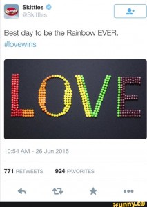 Hashtag #lovewins skittles