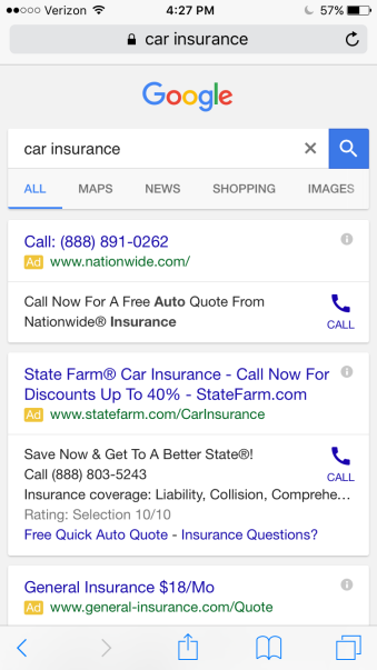 Google mobile text ads