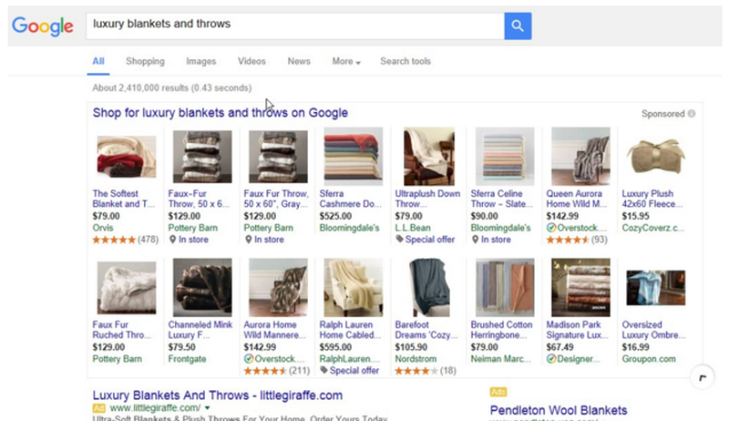 Google Shopping increases number of items