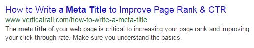 How to Write a Meta Title