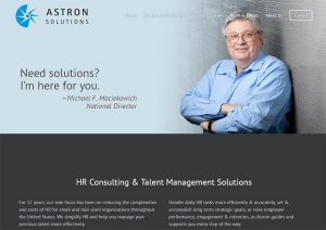 Astron Solutions New Website Launch