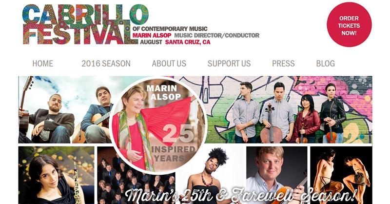 Cabrillo Music website