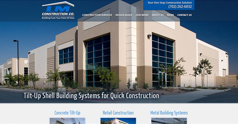 LM Construction Co. website