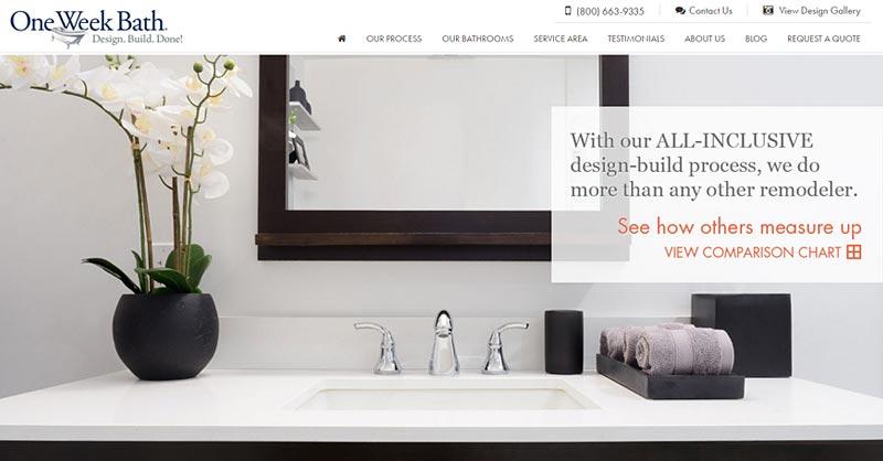 One Week Bath website
