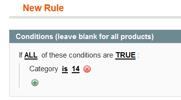 Catalog Price Rules Conditions