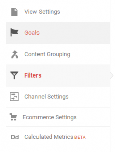 Admin filters view