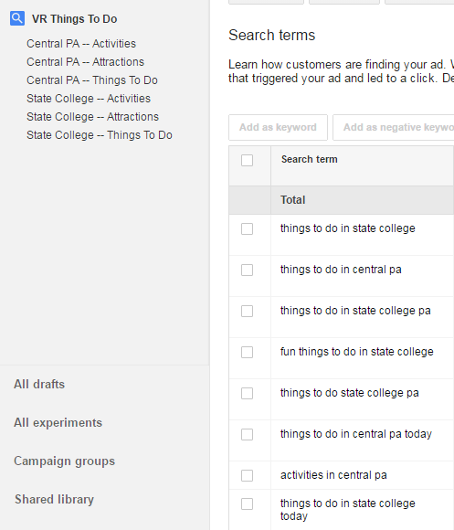 reorganize Adwords campaigns
