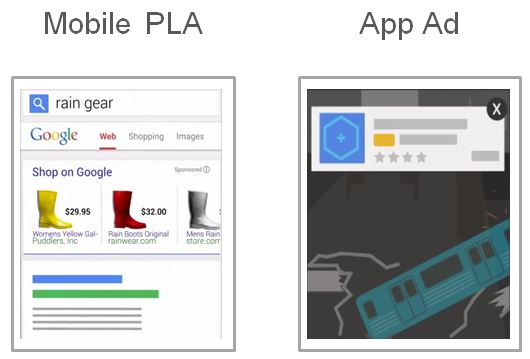 Mobile PLA and App ad