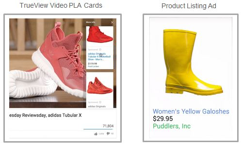 PLA Cards and Product Listing Ad