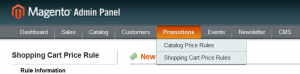 Magento Shopping Cart Price Rules