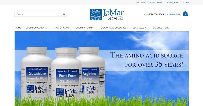 JoMar Labs website