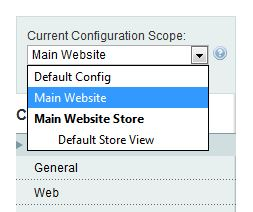 Magento configuration scope
