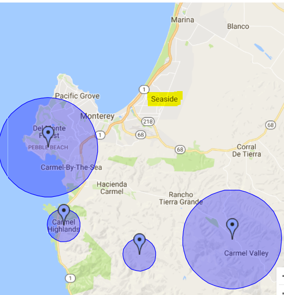 neighborhood radius targeting