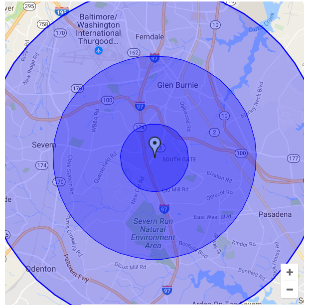 radius targeting