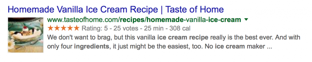 rich snippets recipe