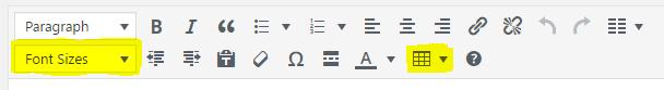 Formatting toolbar