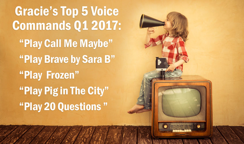 Gracie's Top 5 Voice Commands