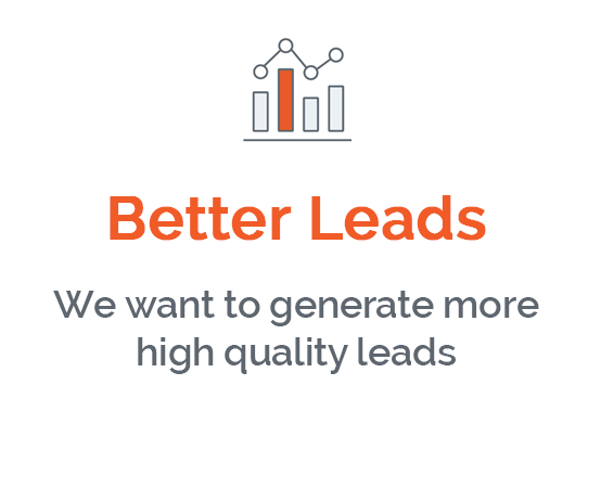 I want to generate more high quality leads