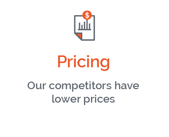 My pricing isn't competitive, but I don't want to devalue my brand
