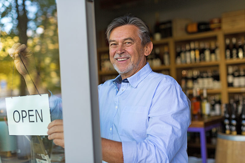 Man in wine shop