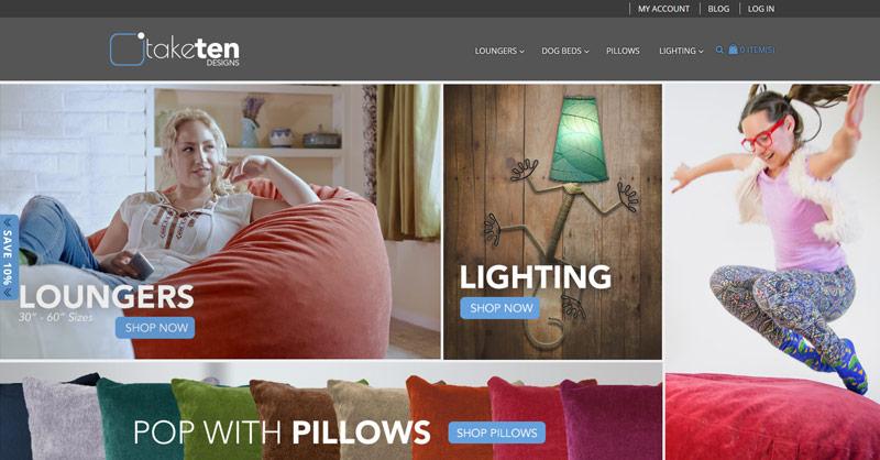Take Ten Designs website