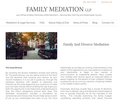 Family Mediation internal page