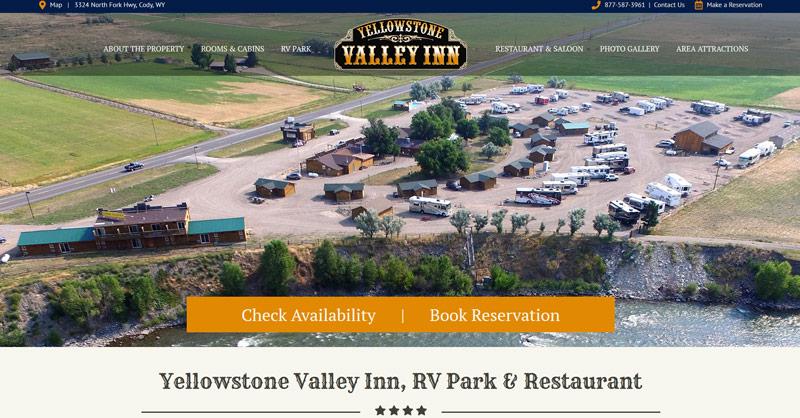 Yellowstone Valley Inn website