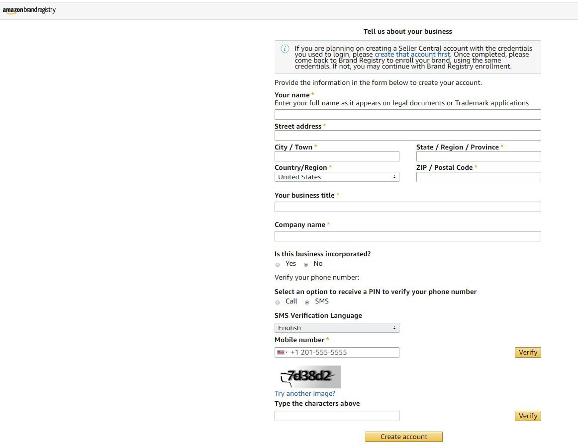amazon brand registry program