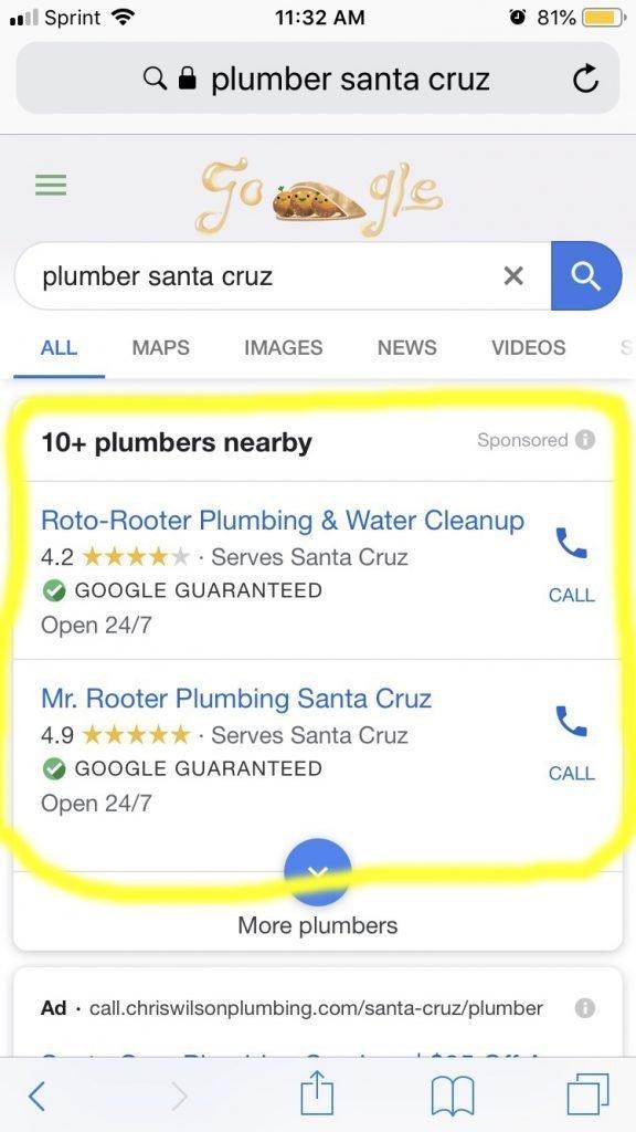 Local service ad