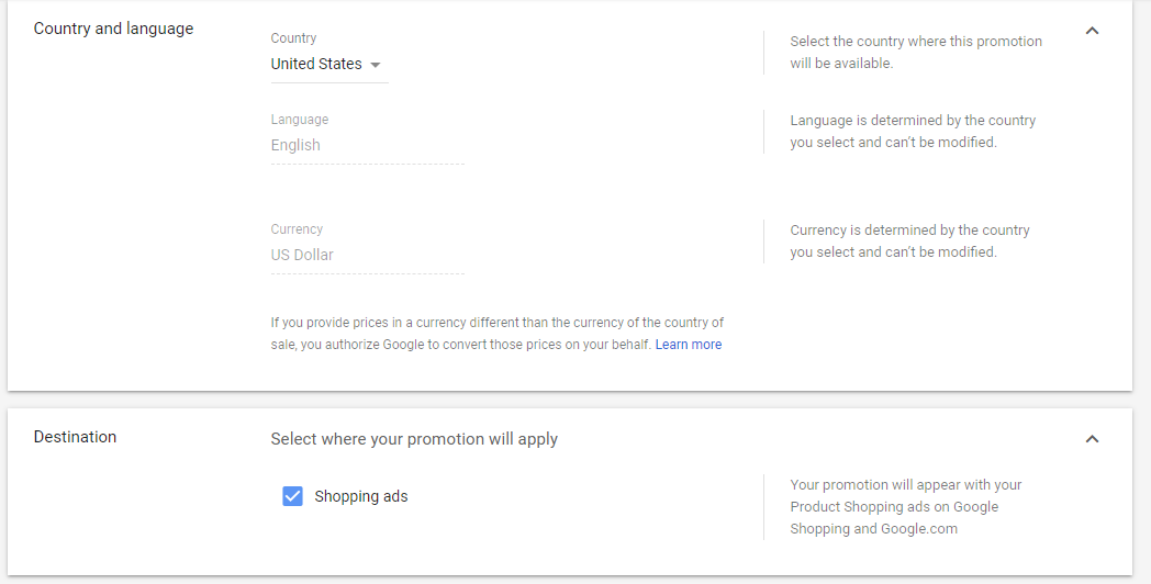 google merchant center screen capture